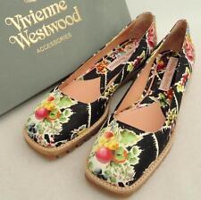 Vivienne Westwood Floral Leather Flats Shoes UK5 /EU38, rrp450GBP