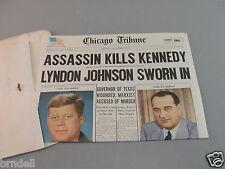 CHICAGO TRIBUNE NEWSPAPER 1964 REPRINT KENNEDY ASSASSINATION JOHNSON OSWALD