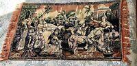 "Vintage Middle Eastern Arabian Night Velvet Tapestry Wall Hanging Rug 39"""