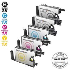 5pk LC75 LC-75 XL Black & Color Printer Ink Cartridge for Brother MFC-J430W
