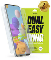 For Samsung Galaxy A21s Screen Protector | Ringke [Dual Easy Wing] Film 2 Pack