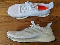 Men's 14 adidas Solarboost 19 Running Shoes Cloud White/Grey/Solar Orange G28058