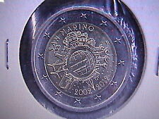 SAN MARINO 2012 2 EURO COMMEMORATIVO DECENNALE DEK TYE IN OBLO'