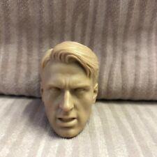 1/6 scale Head Sculpt Captain America Winter Soldier Chris Evans Unpainted AU