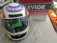 MOTORCYCLE HELMET M7 LEVIOR SIZE EXTRA SMALL (XS) WHITE RED YELLOW PURPLE M7 R78