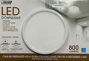 "Feit LED Downlight Dimmable 7.5"" 2700K Soft White #1326036 NEW OPEN/DAMAGED BOX"