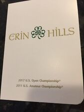 ERIN HILLS GOLF SCORECARD. 2017 US OPEN CHAMPIONSHIP. PGA. New. FREE SHIPPING!