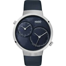 Hugo Boss # Travel Navy Blue Leather Strap Men's Watch 1530053 42mm $195 + tx