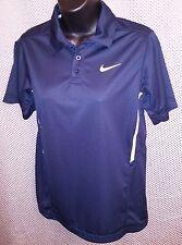 Nike Dri-Fit Navy Blue Polyester Tennis Polo Shirt - Juniors Large