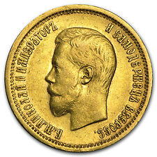 1898-1911 Russia Gold 10 Roubles Nicholas II Avg Circ - SKU #22440