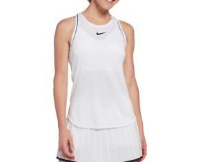 Nike Tank Top Womens New NikeCourt Tennis Training Racerback White XS to Large