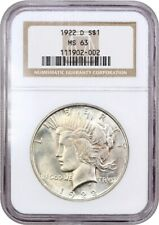 1922-D $1 NGC MS63 - Colorful Toning - Peace Silver Dollar - Colorful Toning