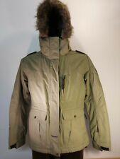 BNWOT Ladies US40 Green Ski Snowboard Jacke Hooded Fur trim Size 40 (14)