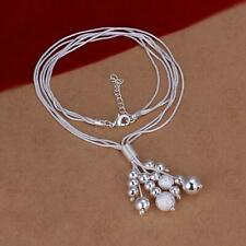 925 Sterling Silver Plated Balls Fashion Necklace