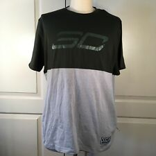 Under Armour Mens Size X-Large T-Shirt Stephen Curry SC30 Mono Logo Green Gray