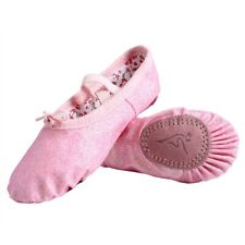 Nexete Leather Ballet Dance Shoes Slippers Split-Sole For Toddle Kids & Girl