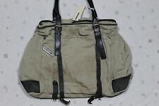 Diesel Men's Denim Leather Rusty Beige Light Brown Casual Tote Bag