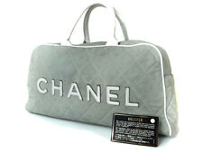 Authentic CHANEL Sports Line Canvas Gray Hand Bag CH11830L