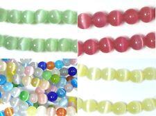 Glass Cats Eye Beads Round 6mm Round UK SELLER 1 Strand