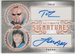 Tazz / Funaki WWE Legends 2020 Leaf Ultimate Wrestling Dual Signatures AUTO ^
