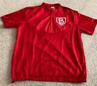 PULLOVER sga cardinals SHIRT st. louis stl Red promo item ADULT XL 1/4 zip