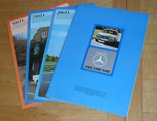 Mercedes Benz 200D 240D 300D W123 Diesel Saloon Brochure Set 1975-1976