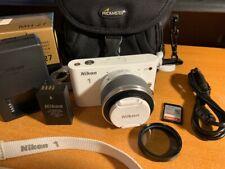 Nikon 1 J1 10.1MP Digital Camera - White With 10-30mm Lens, 32GB + Case
