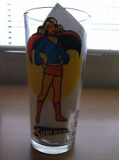 DC: SUPER SERIES VINTAGE PEPSI GLASS, SUPERGIRL, 1976, NEW/UNUSED CONDITION!!!