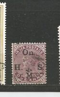 Queen Victoria India Postage with Imprint  Great Britain Stamps Sellos Timbres
