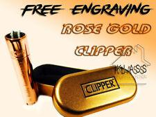 Clipper CM095 Refilable Flint Lighter - Brushed Gold