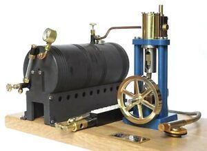 Live Steam - Marine Single Model Steam Engine & Boiler Fully Machined Metal Kit