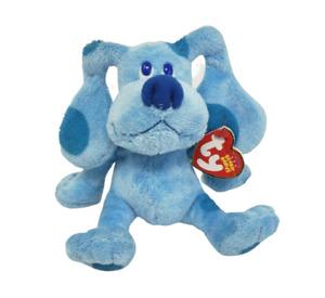 "5"" TY BEANIE BUDDIES BLUE BLUE'S CLUES 2011 STUFFED ANIMAL PLUSH TOY W/ TAG"