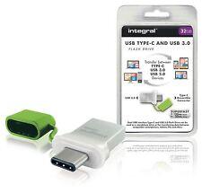 Integral Flash Drive USB 3.0 32GB Aluminium/Green