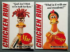 Two Chicken Run Pin Back Buttons - Ginger & Mac