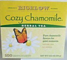 Cozy Chamomile Herbal Tea 100 Ct Box Caffeine Free Individually Wrap Bigelow