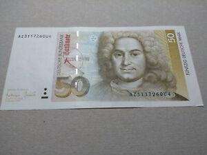 50 DM Deutsche Mark Banknote Schein, sehr guter Zustand, 1993