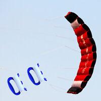 1.8m Dual Line Parafoil Parachute Stunt Sport Beach Kite Outdoor Sports Toy NEW