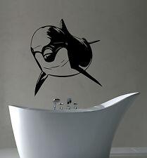 Dolphin Wall Sticker Sea Animal Vinyl Decal Marine Art Bathroom Nautical Decor 2