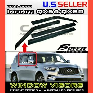 for 11-20 Infiniti QX56 QX80 / WINDOW VISORS DEFLECTOR RAIN GUARD VENT SHADE