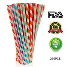 Paper Straws Biodegradable Eco-Friendly Great for Birthday Party Baby Shower 100
