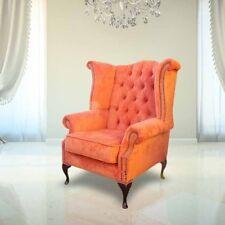 Echter Chesterfield  Ohrensessel Sessel Couch Sofa Polster Sitz Lounge Samt Neu