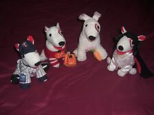 "4 2010 Target Bullseye 7"" Plush Dogs Vampire Halloween Easter Bunny Twins NEW"