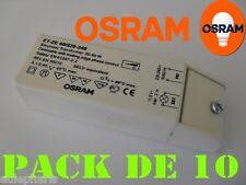 Pack 10 Transformador Electronico 12V 60W Regulable OSRAM, 220V-12V