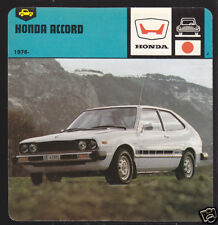 1972-1978 HONDA CIVIC Japan Car Picture AUTO RALLY CARD