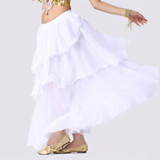 Chiffon Dancing Belly Dance Costume Spiral Long 3 Layers Skirt Top Belt 8 Colors