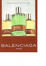 PUBLICITE ADVERTISING  1981   BALENCIAGA   parfum  HO HANG