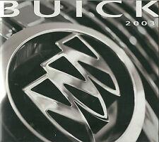 2003 BUICK Brochure Pamphlet:RAINER,RENDEZVOUS,PARK AVENUE,LeSABRE,REGAL,CENTURY