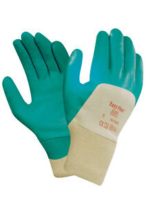 Ansell Easy Flex 47-200 Palm Coated Nitrile Glove - Green