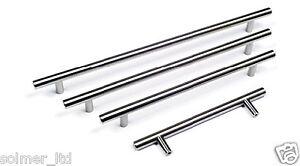T BAR Handles Kitchen & Bedroom Cabinet Door Handles 96mm to 640mm sizes