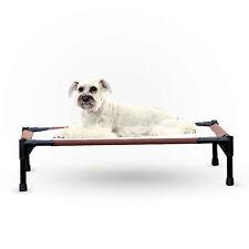 K & H Pet Dog Raised Frame Bed - No power - Self Warming Heating Pet Cot - Large